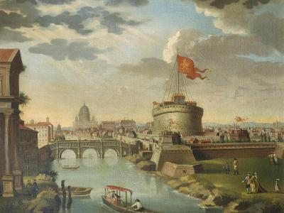St. Peter's and the Castel Sant Angelo, Rome--Giclee Print