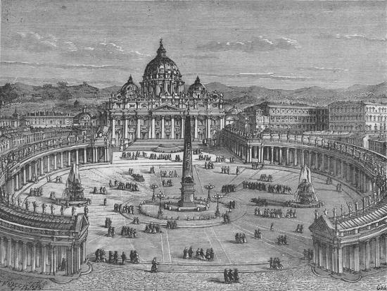'St. Peter's and the Vatican', c1880-Unknown-Giclee Print