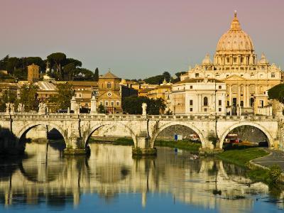 St Peter's Basilica from the Tiber River-Glenn Beanland-Photographic Print
