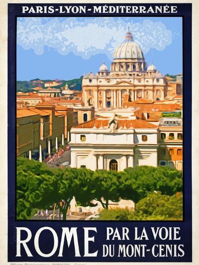 St. Peter's Basilica, Roma Italy 6-Anna Siena-Giclee Print