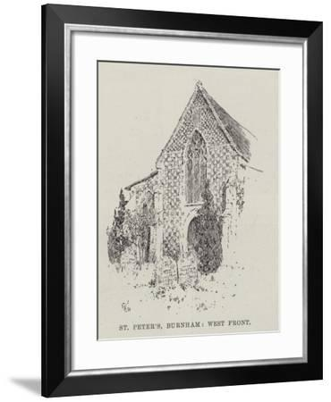 St Peter's Burnham, West Front--Framed Giclee Print