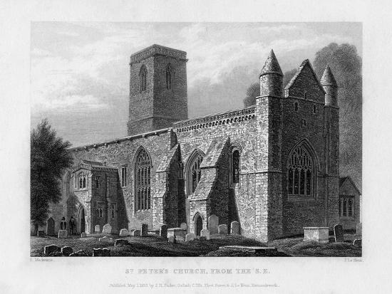 St Peter's Church, from the South-East, Oxford, 1833-John Le Keux-Giclee Print