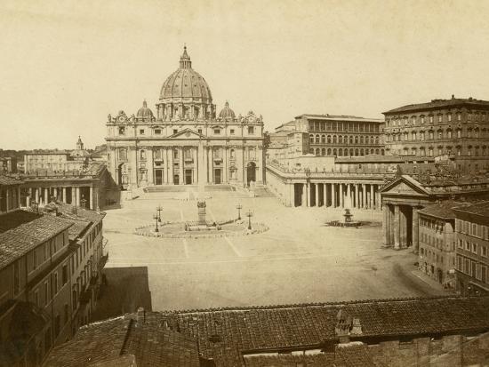 St. Peter's Square-Giacomo Brogi-Photographic Print