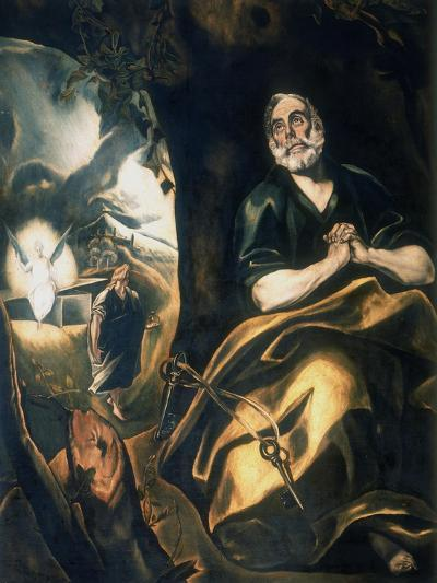 St Peter's Tears, C1561-1614-El Greco-Giclee Print