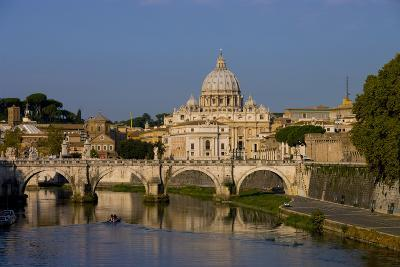 St Peters Rome Across River Tiber-Charles Bowman-Photographic Print