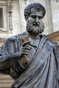 St. Peters Statue. Sculpted from 1838-1840 by Venetian Sculptor Giuseppe De Fabris (1790-1860). St.