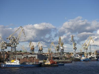 St. Petersburg Commercial Harbor-Keenpress-Photographic Print