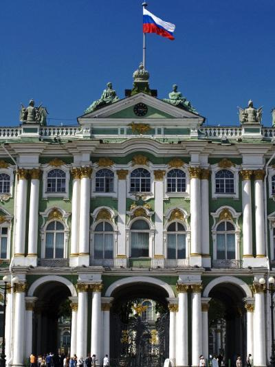 St Petersburg, Main Entrance to the Saint Hermitage Museum or Winter Palace, Russia-Nick Laing-Photographic Print