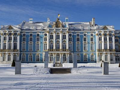 St Petersburg, Tsarskoye Selo, Catherine Palace Was Commissioned by the Empress Elizabeth, Russia-Nick Laing-Photographic Print