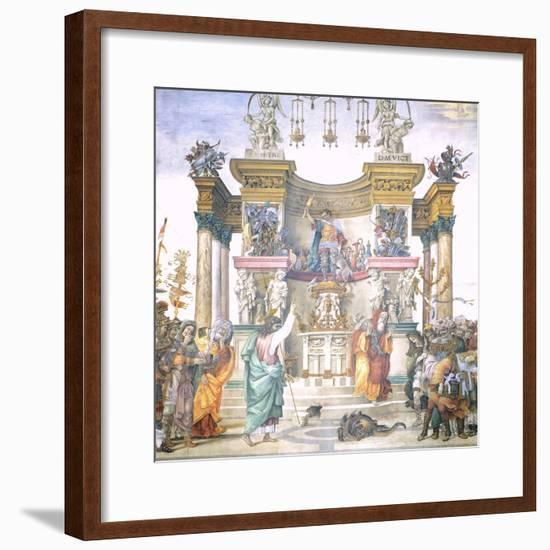 St Philip Driving Dragon from Temple of Hierapolis-Filippino Lippi-Framed Giclee Print