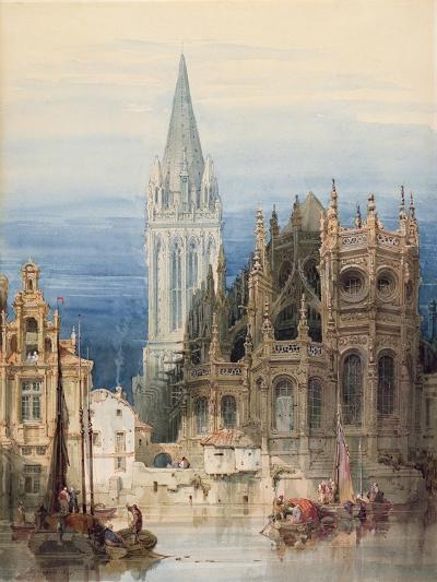 St. Pierre, Caen, 1830-David Roberts-Giclee Print