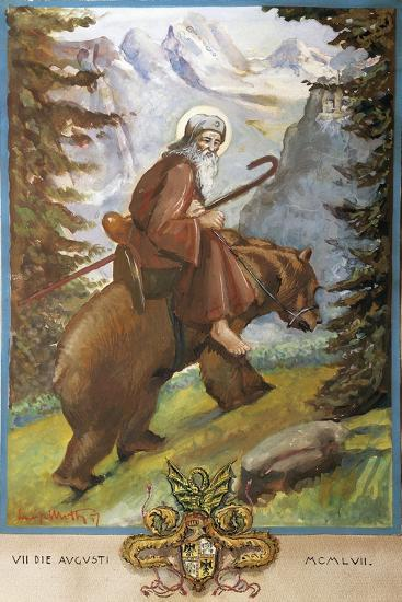 St Remedies on the Back of the Bear-Luigi Mussini-Giclee Print