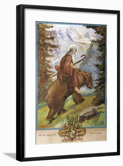 St Remedies on the Back of the Bear-Luigi Mussini-Framed Giclee Print