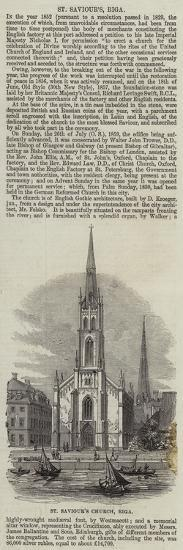 St Saviour's Church, Riga--Giclee Print