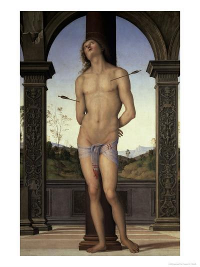 St. Sebastian, 15th century-Pietro Perugino-Giclee Print