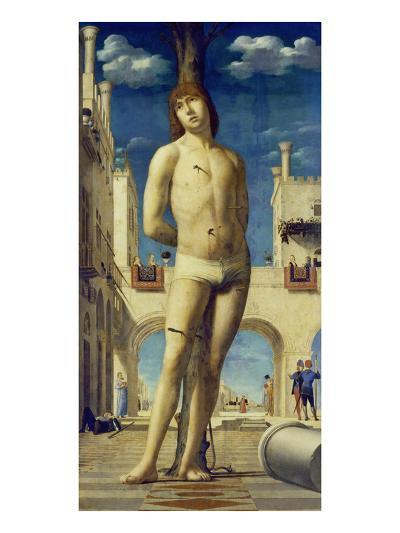 St. Sebastian, about 1475/76-Antonello da Messina-Giclee Print