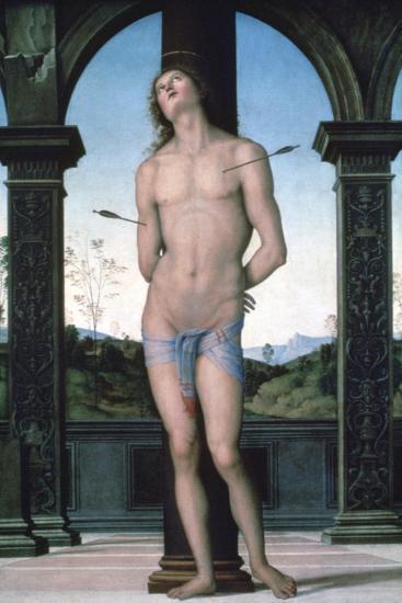 St Sebastian, C1470-1523-Perugino-Giclee Print