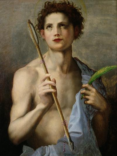 St. Sebastian Holding Two Arrows and the Martyr's Palm-Andrea del Sarto-Giclee Print