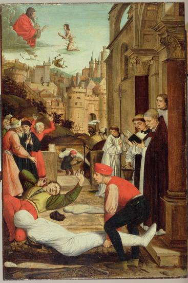 St. Sebastian Interceding for the Plague Stricken, 1497-99-Josse Lieferinxe-Giclee Print