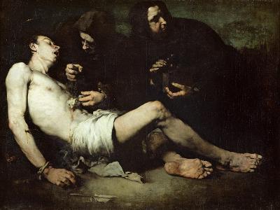 St Sebastian, Martyred-Auguste Theodule Ribot-Giclee Print