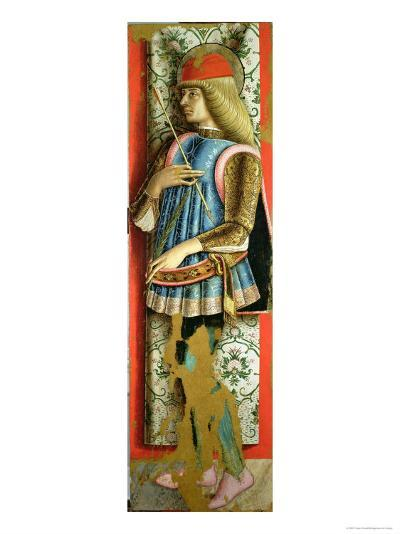 St. Sebastian, Right Hand Panel of the Second Triptych of the Valle Castellamo-Carlo Crivelli-Giclee Print