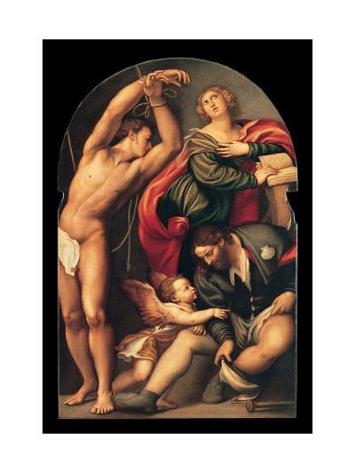 St. Sebastian, St. Roch and St. Catherine, il Pordenone, 1535. Venice, Italy-il Pordenone Sacchis-Art Print