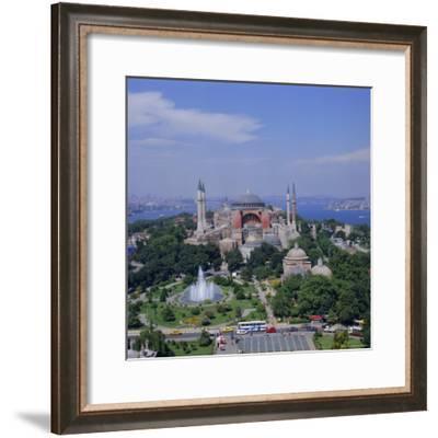 St. Sophia (Haghia Sophia) (Aya Sofya) Mosque, Istanbul, Turkey, Europe-David Lomax-Framed Photographic Print