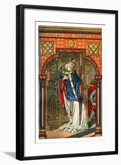 St Stanislas, 11th Century Polish Bishop and Martyr, 1886--Framed Giclee Print
