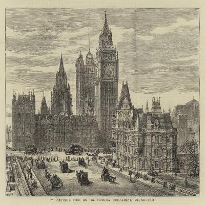 St Stephen's Club, on the Victoria Embankment, Westminster-Henry William Brewer-Giclee Print