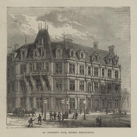 St Stephen's Club, Thames Embankment--Giclee Print