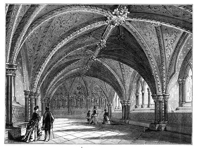St Stephen's Crypt, Westminster Palace, London, C1888--Giclee Print