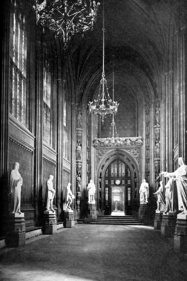 St Stephen's Hall, Palace of Westminster, London, C1905--Giclee Print