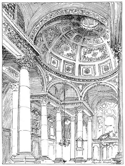 St Stephen's Walbrook, 1899-Reginald Blomfield-Giclee Print