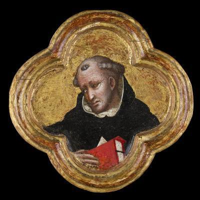 St. Thomas Aquinas (Tempera on Panel)- Dalmasio di Jacopo Scannabecchi-Giclee Print