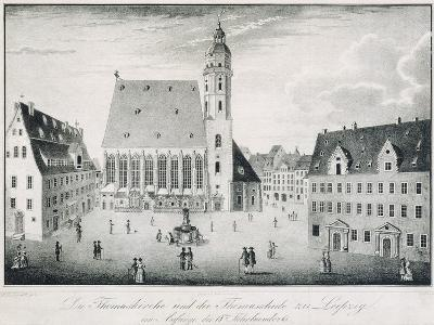St Thomas Church and St Thomas School in Leipzig, Germany--Giclee Print