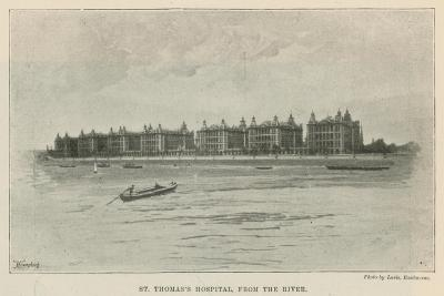 St Thomas's Hospital, from the River--Giclee Print