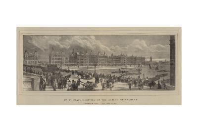 St Thomas's Hospital on the Albert Embankment--Giclee Print