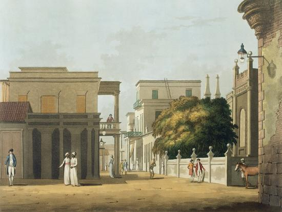 St. Thome Street, Fort St. George, Plate 12, Twenty Four Views in Hindostan, Engraved by Merke-Colonel Francis Swain Ward-Giclee Print