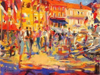 St. Tropez Promenade-Peter Graham-Giclee Print