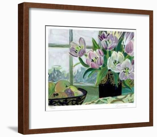 St. Tropez Tulips-Ellen Gunn-Framed Limited Edition