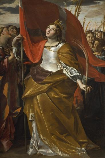 St Ursula and the Virgins, 1622-1623-Giovanni Lanfranco-Giclee Print