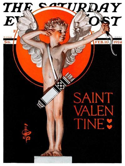 """St. Valentine, 1924,"" Saturday Evening Post Cover, February 16, 1924-Joseph Christian Leyendecker-Giclee Print"