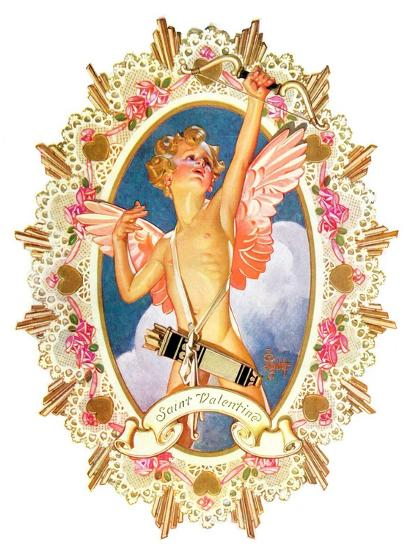 """St. Valentine,""February 15, 1936-Joseph Christian Leyendecker-Giclee Print"