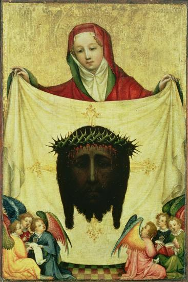 St. Veronica with the Shroud of Christ, C.1420- Master of the Munich St. Veronica-Giclee Print