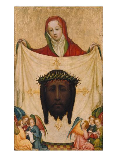 St. Veronica with the Shroud of Christ- Master of Saint Veronika-Giclee Print