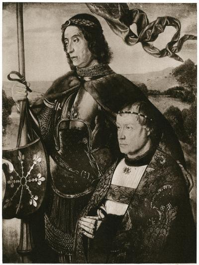 St Victor and a Donor-Hugo van der Goes-Giclee Print