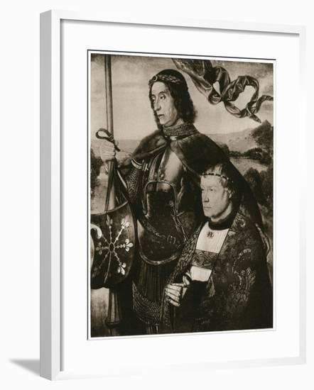 St Victor and a Donor-Hugo van der Goes-Framed Giclee Print