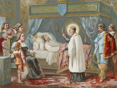 St Vincent De Paul Assisting King Louis XIII of France in His Final Moments, 1643--Giclee Print