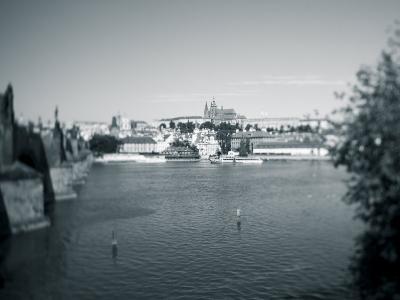 St, Vitus Cathedral and Vltava River, Prague, Czech Republic-Jon Arnold-Photographic Print