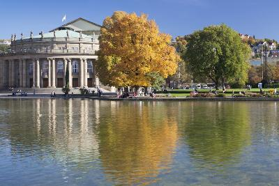 Staatstheater (State Theatre) and Schlosspark in Autumn-Markus Lange-Photographic Print